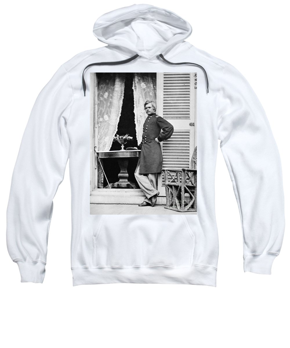 1864 Sweatshirt featuring the photograph Edward Ord (1818-1883) by Granger