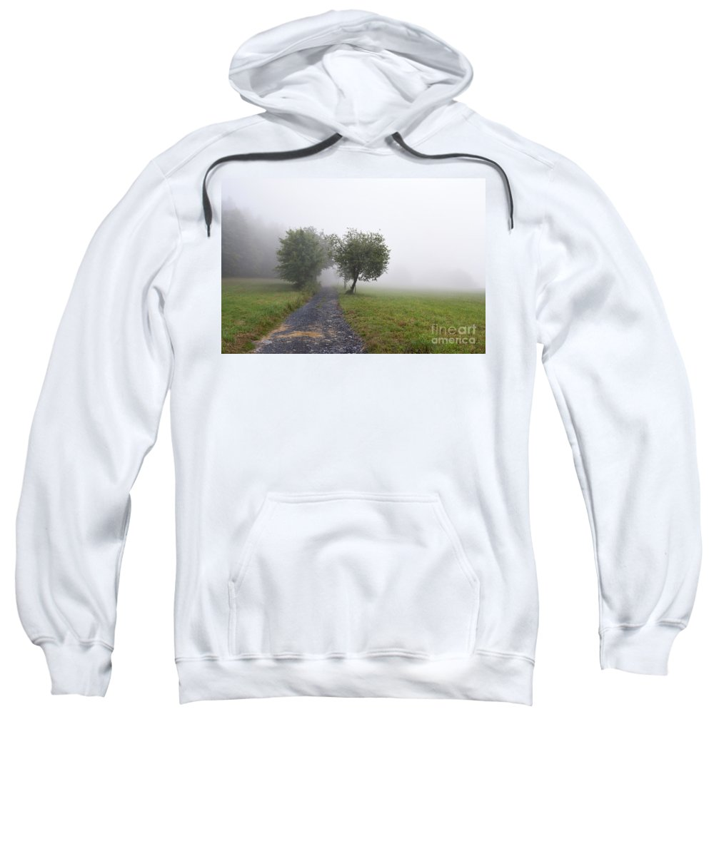 Meadow Sweatshirt featuring the photograph Foggy Landscape by Michal Boubin