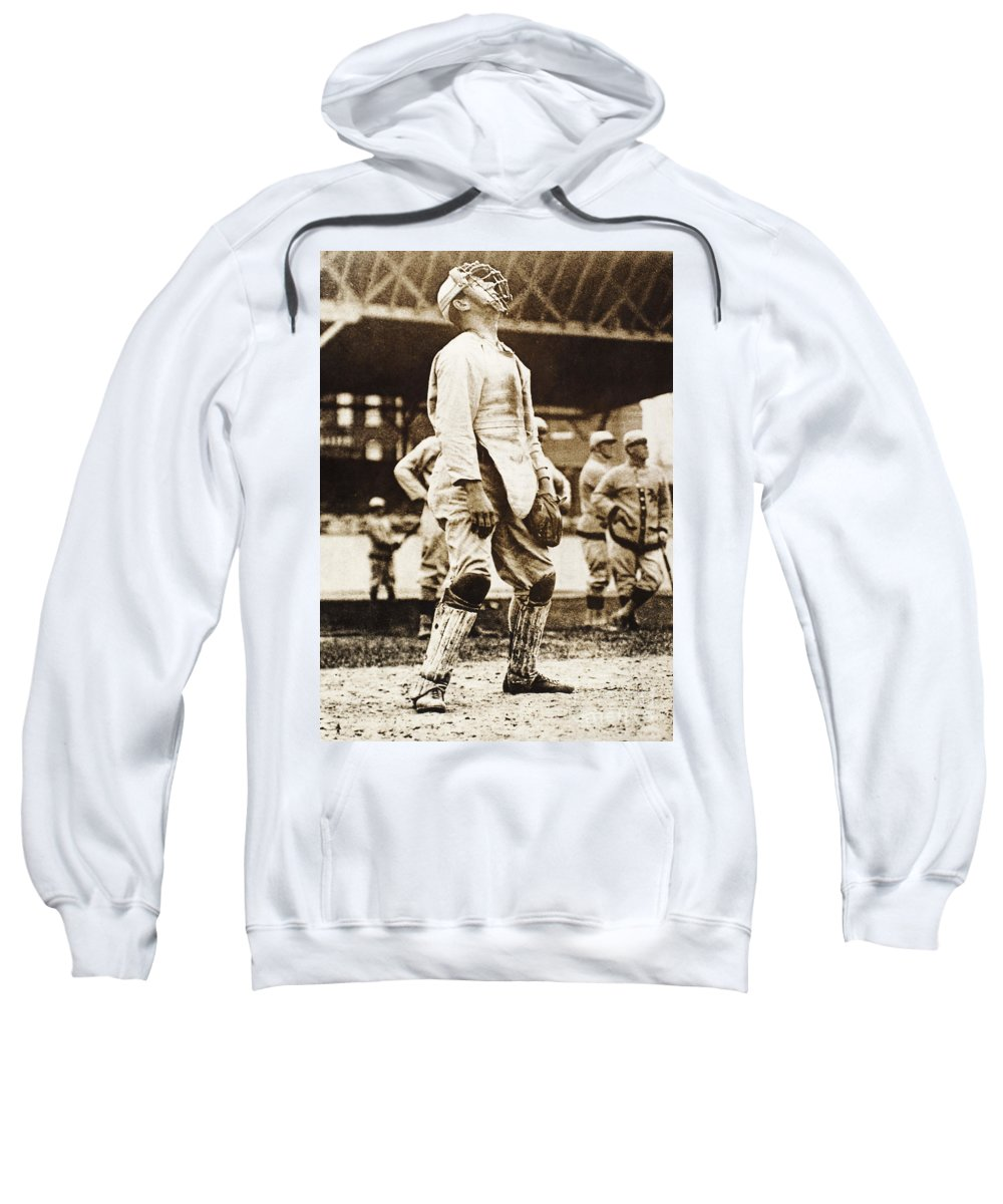 1909 Sweatshirt featuring the photograph Fred Snodgrass (1887-1974) by Granger