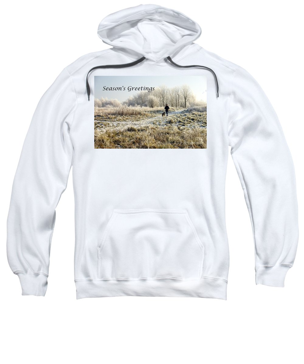 Christmas Sweatshirt featuring the photograph Frosty Morning by John Chatterley