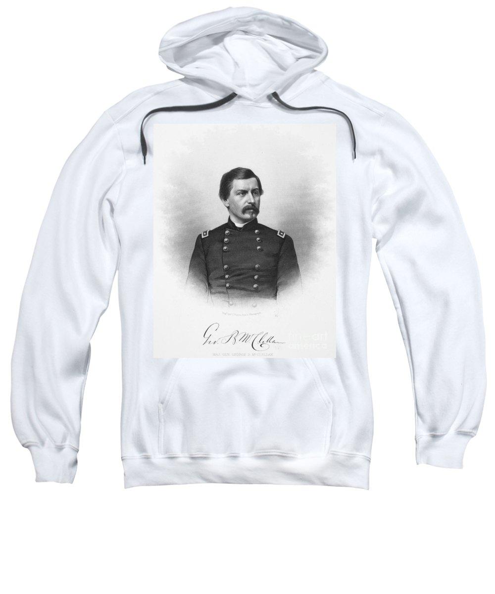 19th Century Sweatshirt featuring the photograph George Brinton Mcclellan by Granger