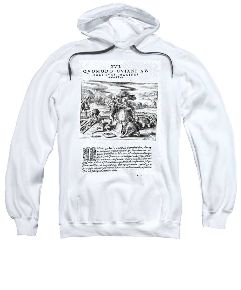 1599 Sweatshirt featuring the photograph Guiana: Gold Casting, 1599 by Granger