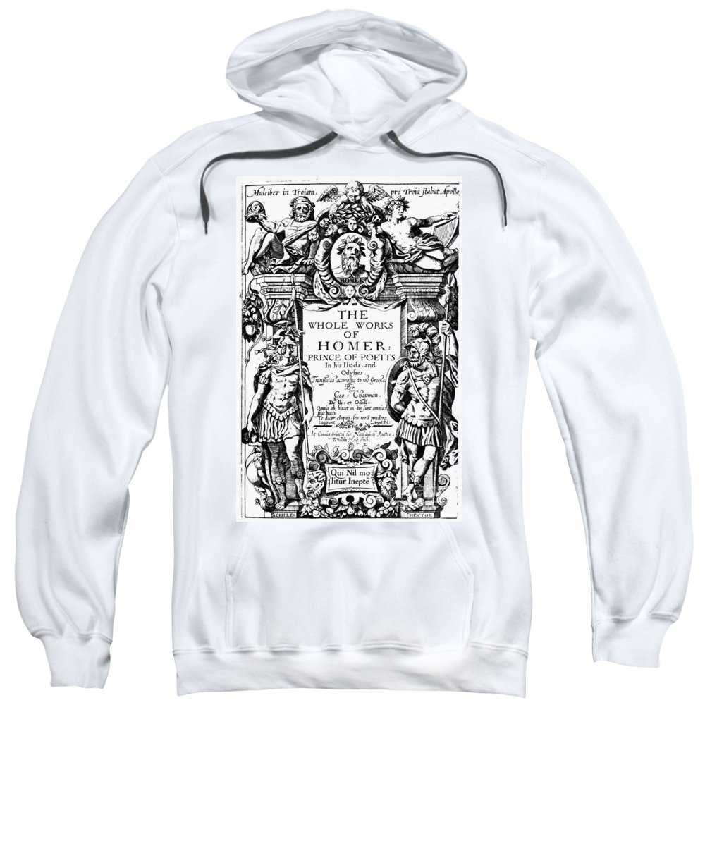 1616 Sweatshirt featuring the photograph Homer Title Page, 1616 by Granger