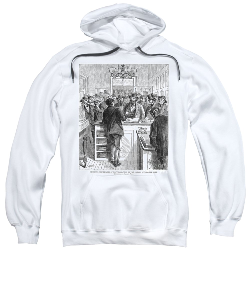 1868 Sweatshirt featuring the photograph Immigration: Citizenship by Granger