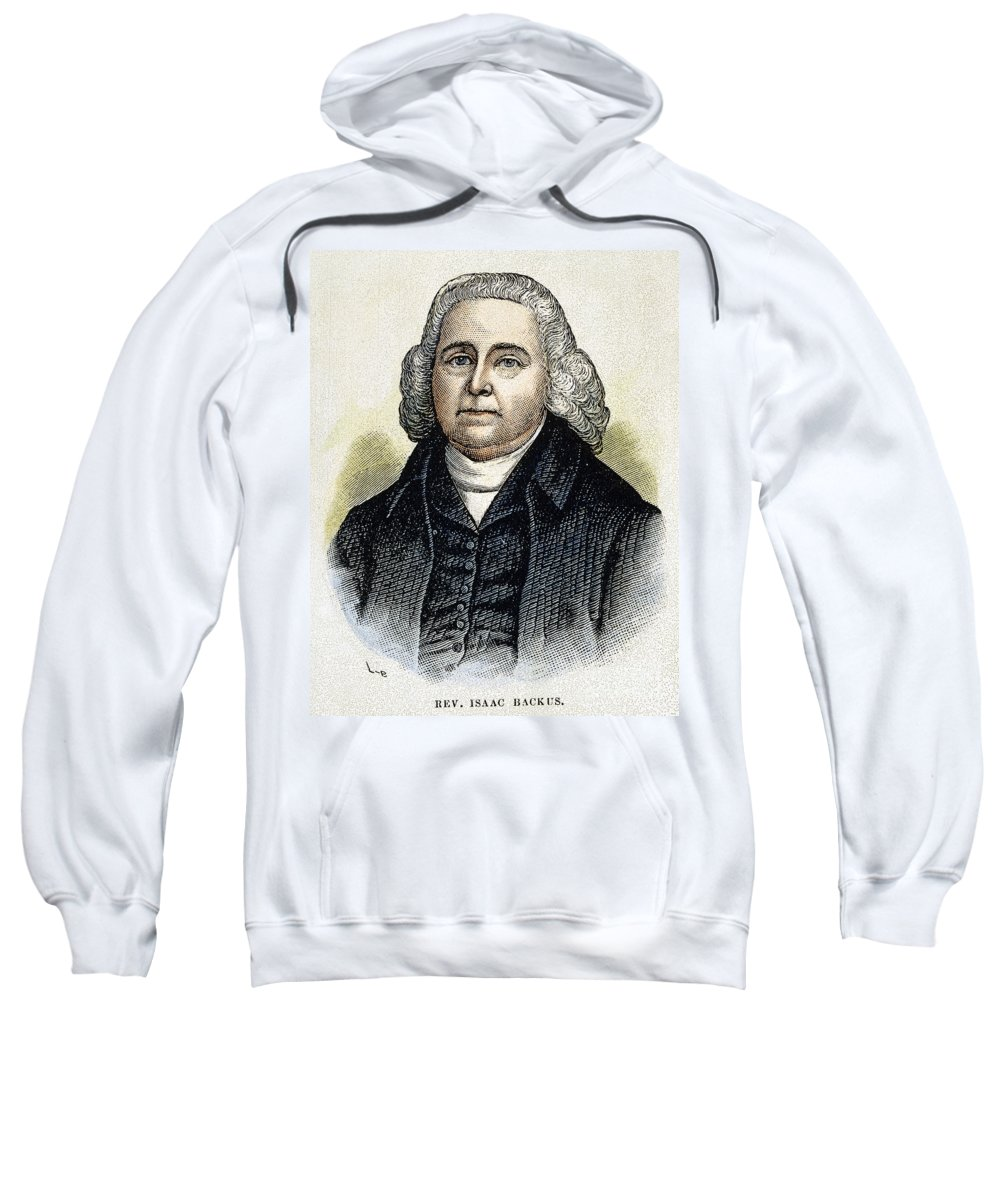 18th Century Sweatshirt featuring the photograph Isaac Backus (1724-1806) by Granger