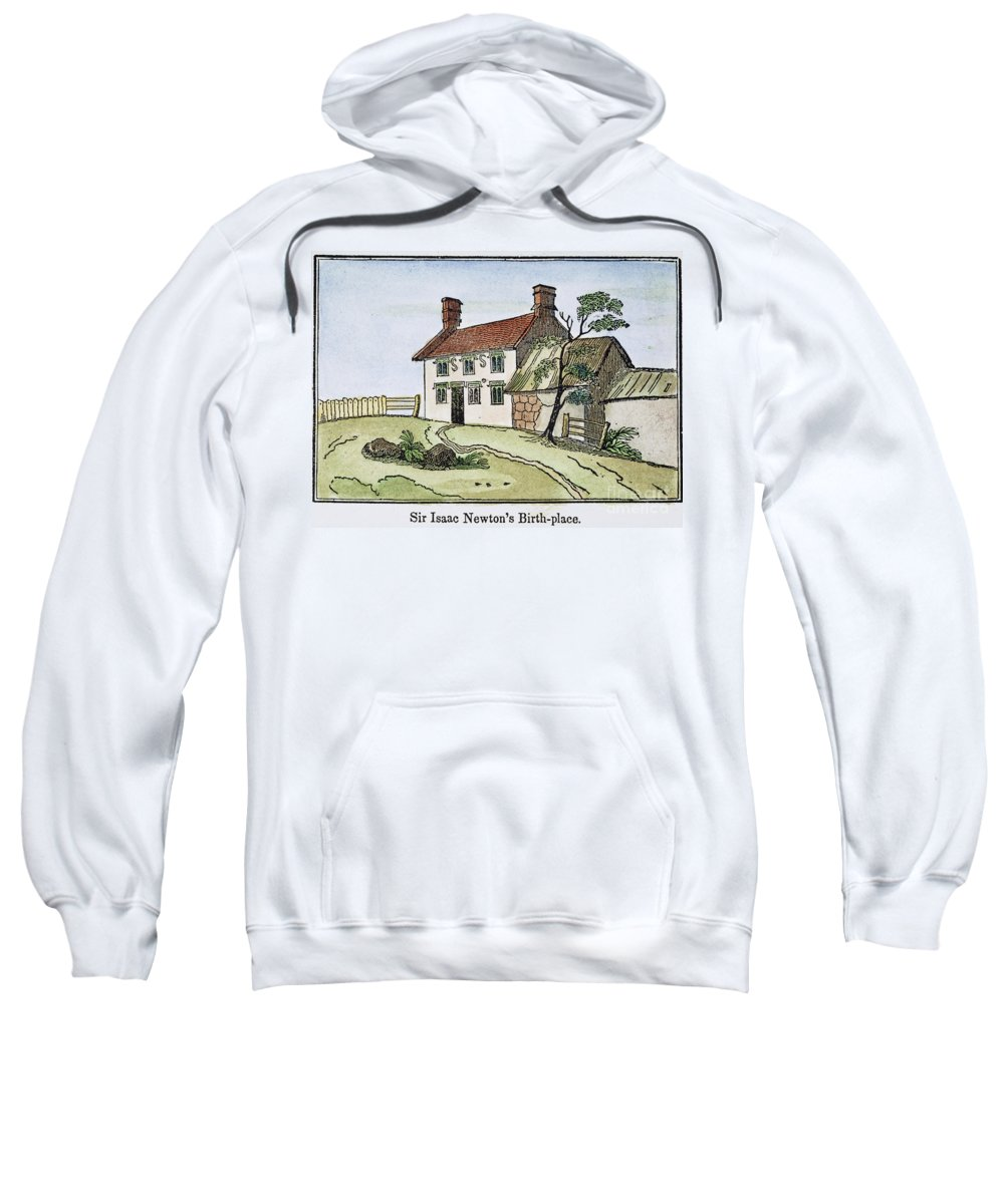 Birthplace Sweatshirt featuring the photograph Isaac Newton Birthplace by Granger