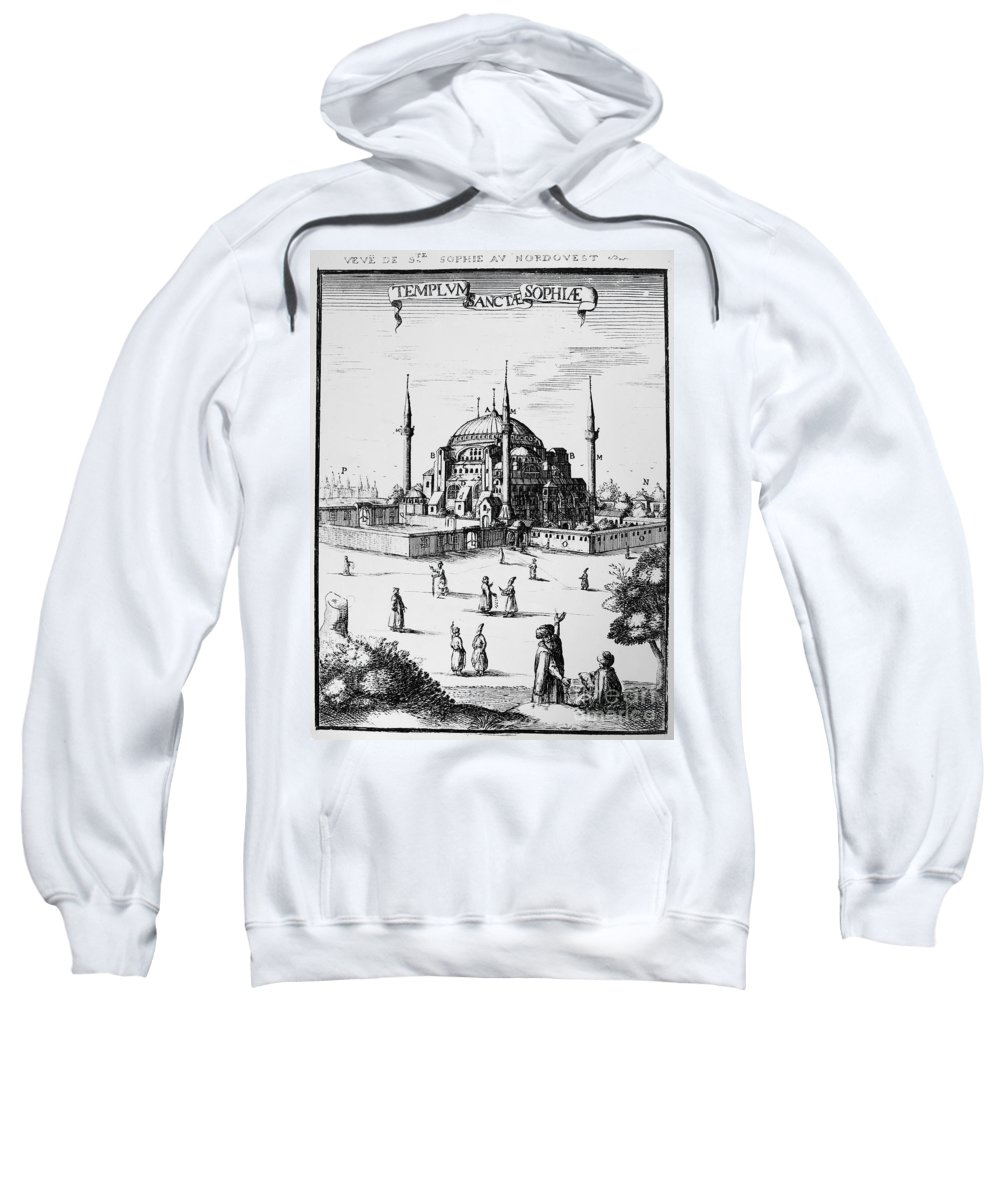 1680 Sweatshirt featuring the photograph Istanbul: Hagia Sophia by Granger