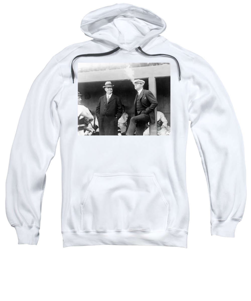 1922 Sweatshirt featuring the photograph Johnson & Ruth, 1922 by Granger