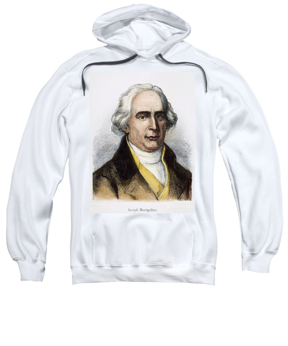 18th Century Sweatshirt featuring the photograph Joseph-michel Montgolfier by Granger