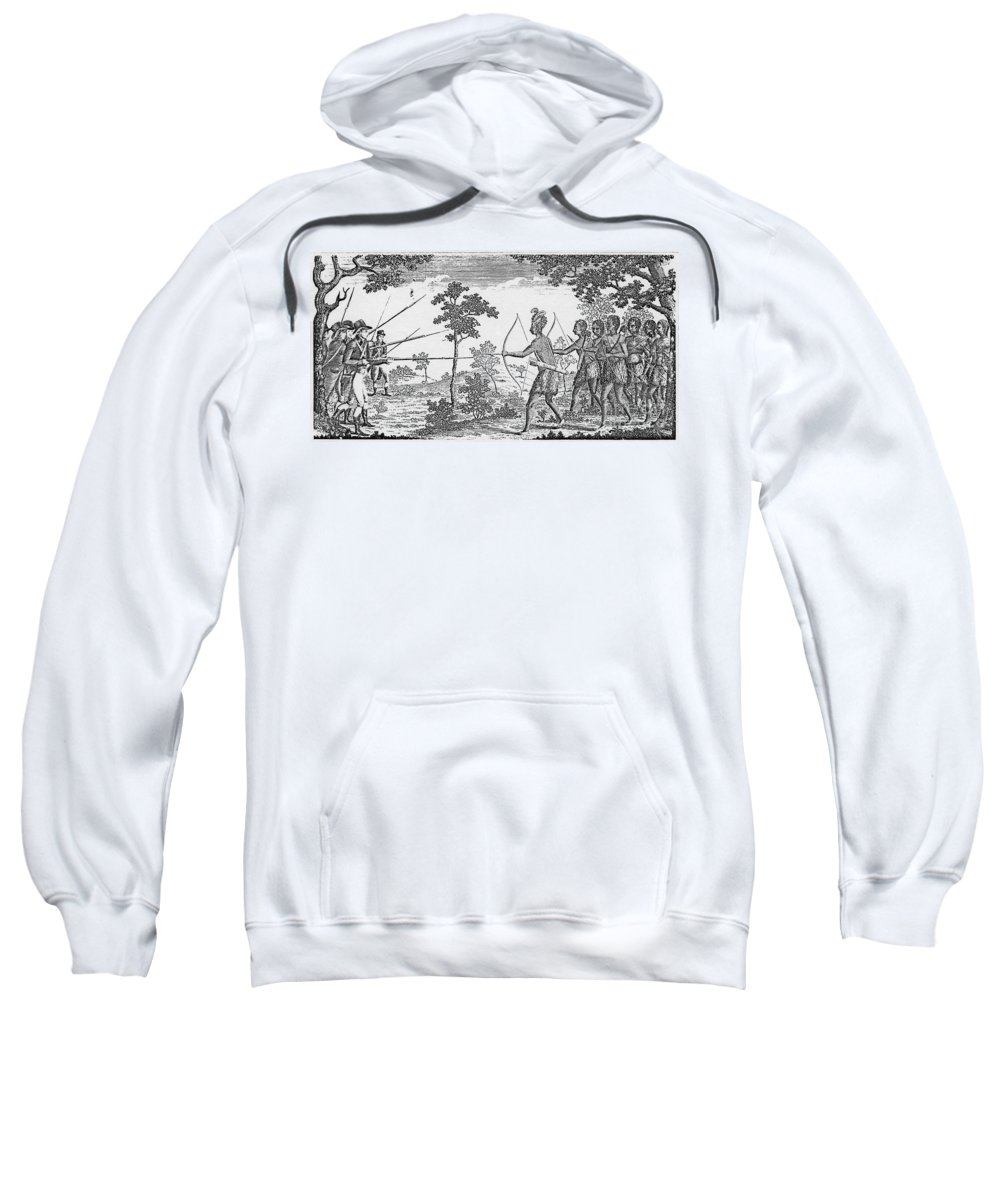 1675 Sweatshirt featuring the photograph King Philips War, 1675 by Granger