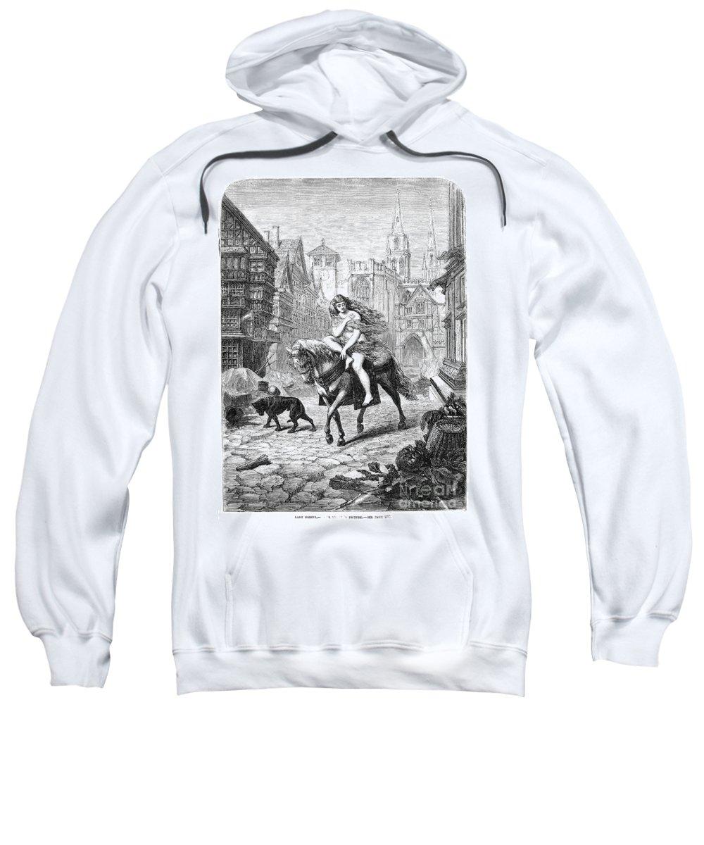 11th Century Sweatshirt featuring the photograph Lady Godiva (11th Century) by Granger