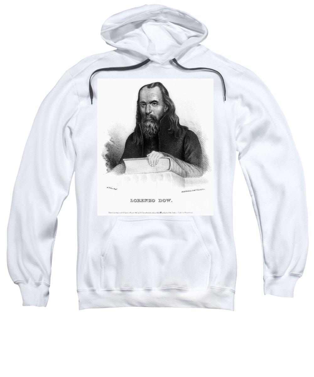 1834 Sweatshirt featuring the photograph Lorenzo Dow (1777-1834) by Granger
