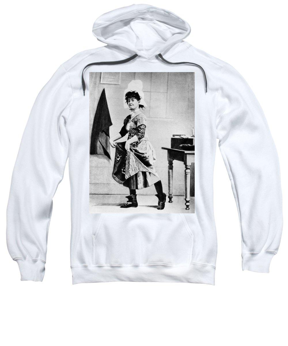 1888 Sweatshirt featuring the photograph Lotta Crabtree (1847-1924) by Granger