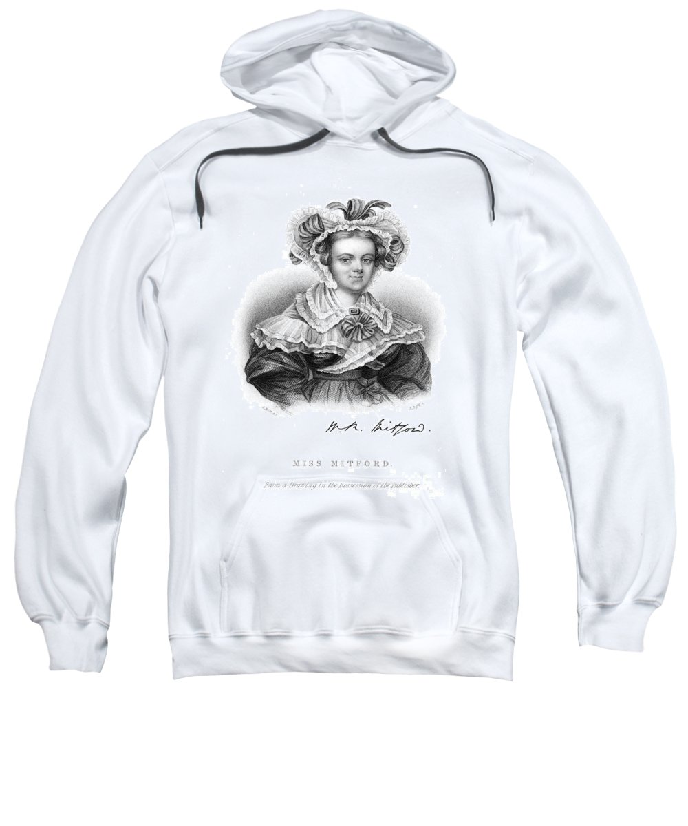 1836 Sweatshirt featuring the photograph Mary Russell Mitford by Granger