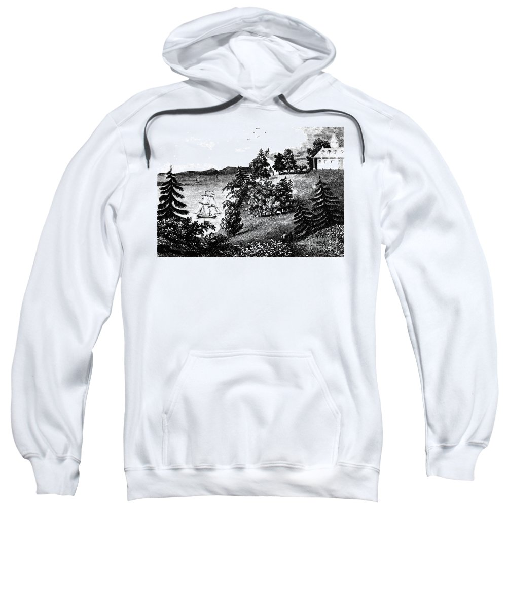 1798 Sweatshirt featuring the photograph Mount Vernon, 1798 by Granger