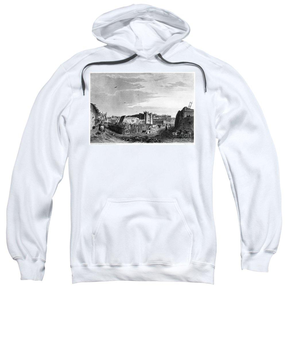 1854 Sweatshirt featuring the photograph New Mexico: Zuni Pueblo by Granger