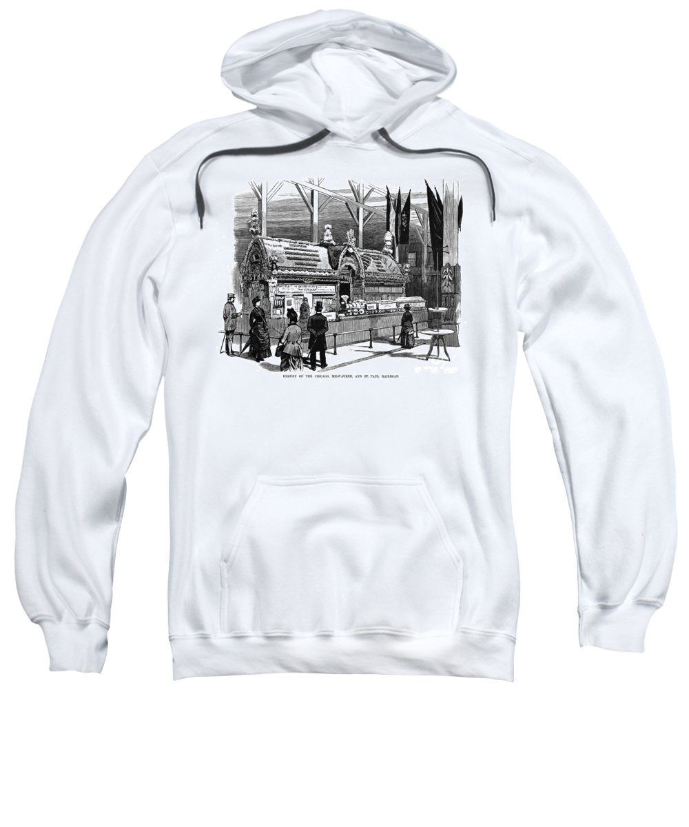 1884 Sweatshirt featuring the photograph New Orleans Fair, 1884 by Granger