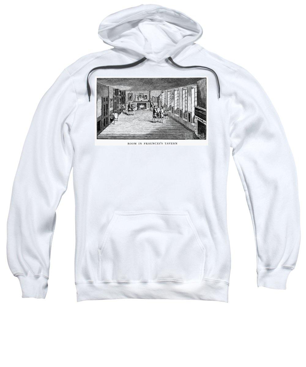 1888 Sweatshirt featuring the photograph New York: Fraunces Tavern by Granger