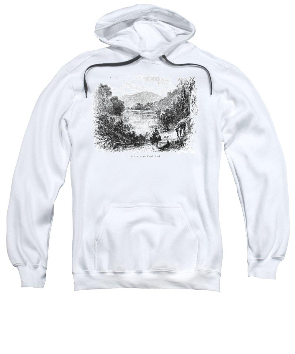 1875 Sweatshirt featuring the photograph North Carolina, C1875 by Granger