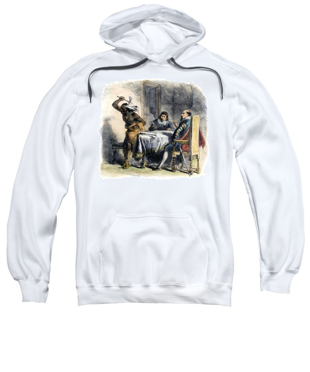 1620 Sweatshirt featuring the photograph Opechancanough by Granger