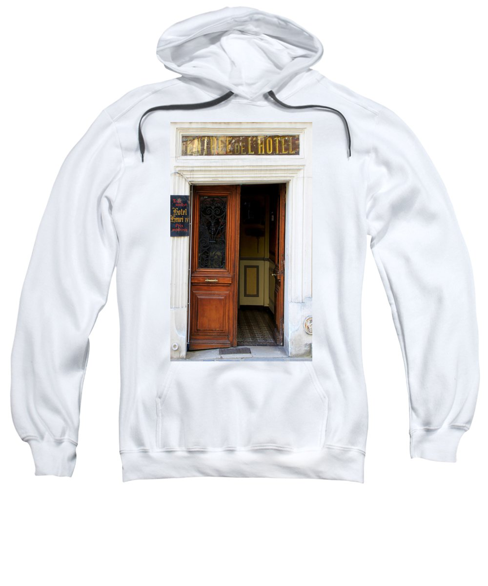 Paris Sweatshirt featuring the photograph Paris Hotel by Andrew Fare