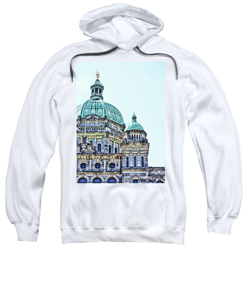 British Columbia Sweatshirt featuring the photograph Parliament by Traci Cottingham