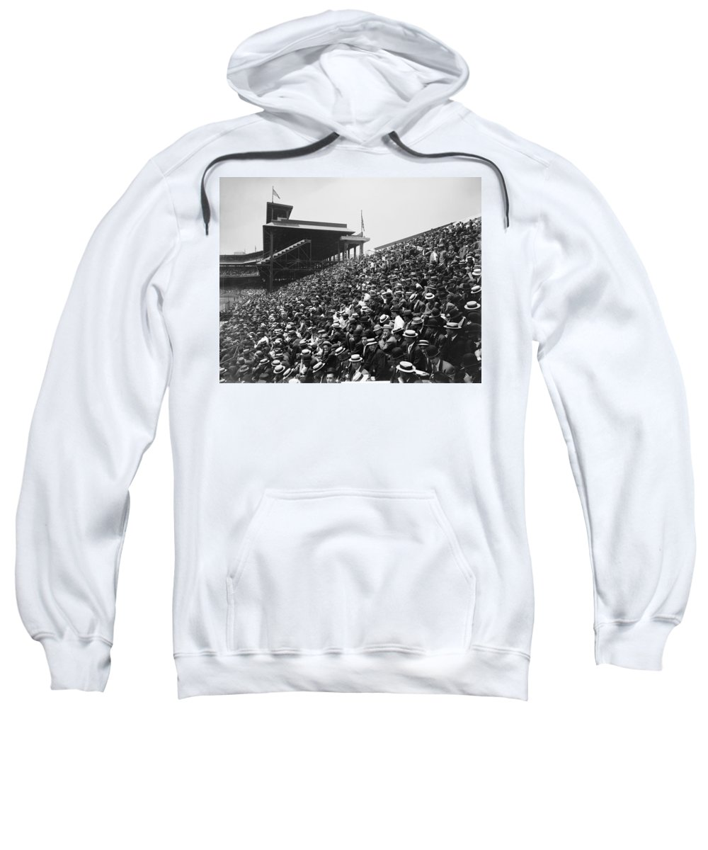 1910 Sweatshirt featuring the photograph Pittsburgh: Forbes Field by Granger