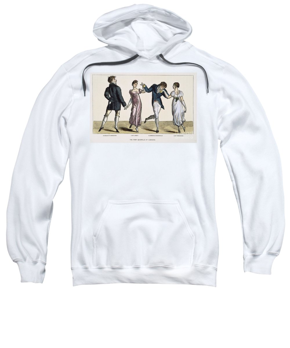 1820 Sweatshirt featuring the photograph Quadrille, 1820 by Granger