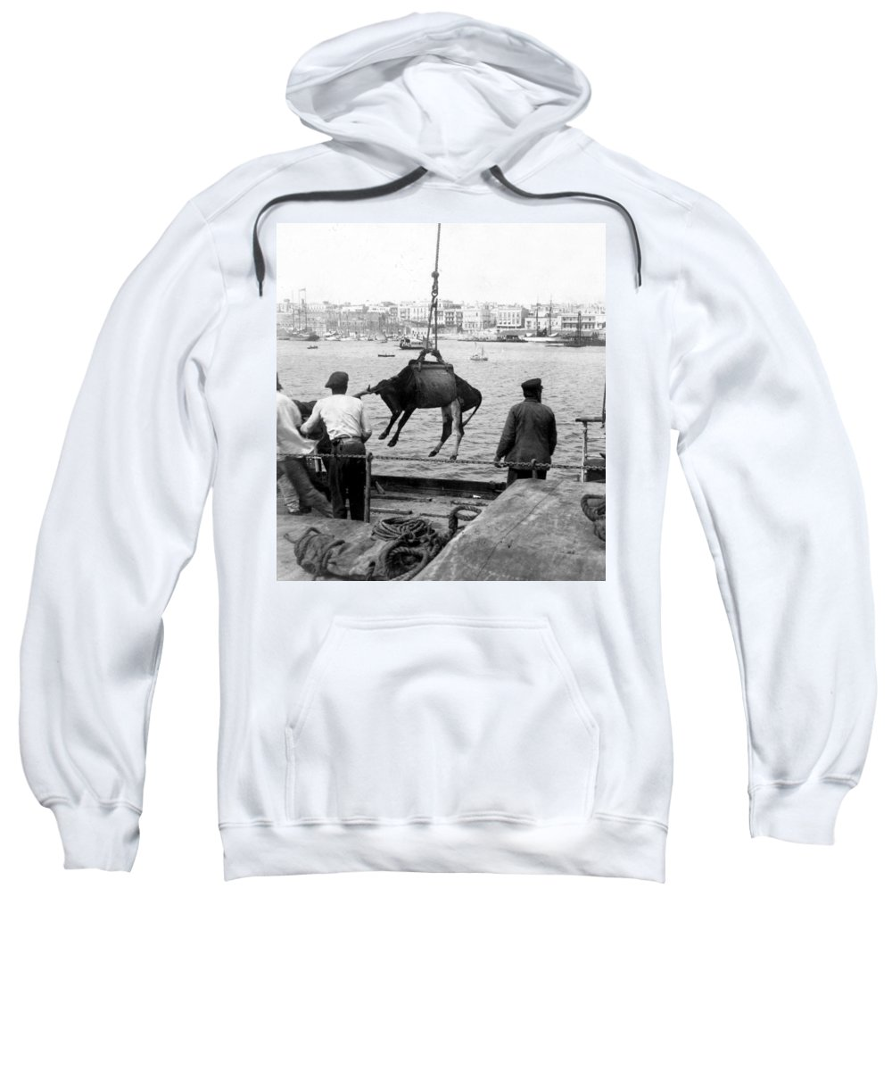 san Juan Sweatshirt featuring the photograph San Juan Harbor - Puerto Rico - C 1900 by International Images