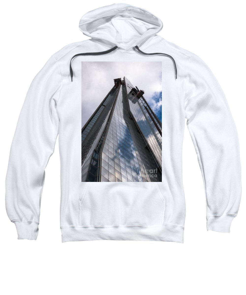 2012 Sweatshirt featuring the photograph Shard by Andrew Michael