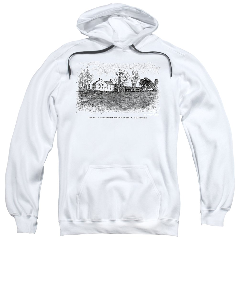 1787 Sweatshirt featuring the photograph Shays Rebellion, 1787 by Granger