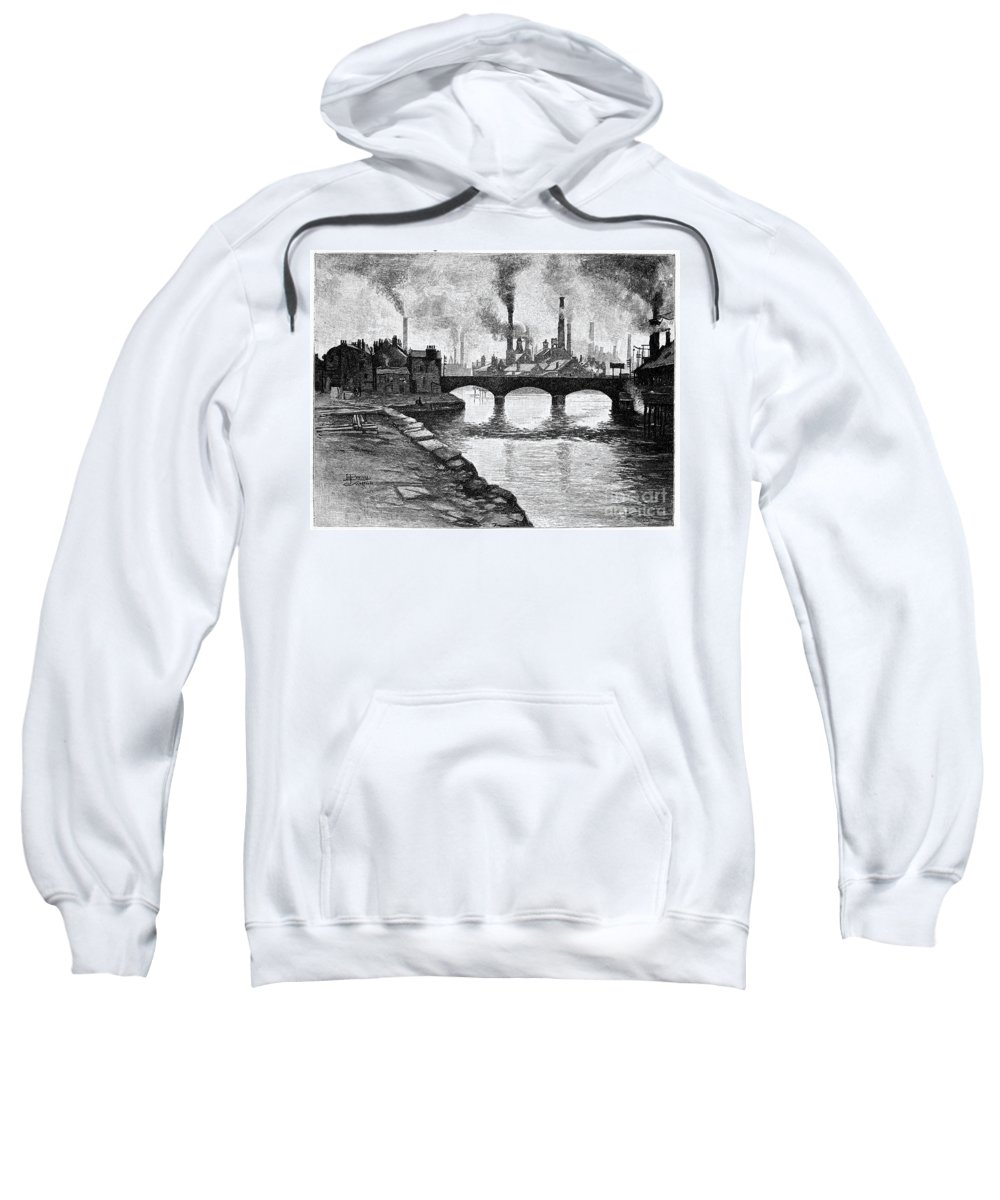 1884 Sweatshirt featuring the photograph Sheffield, England, 1884 by Granger
