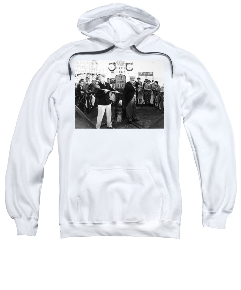 -amusement Parks- Sweatshirt featuring the photograph Silent Film: Amusement Park by Granger