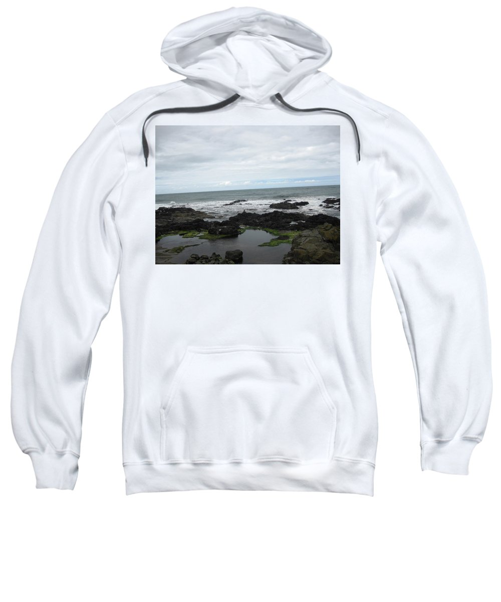 Ocean Sweatshirt featuring the photograph Tide Pool by Linda Hutchins