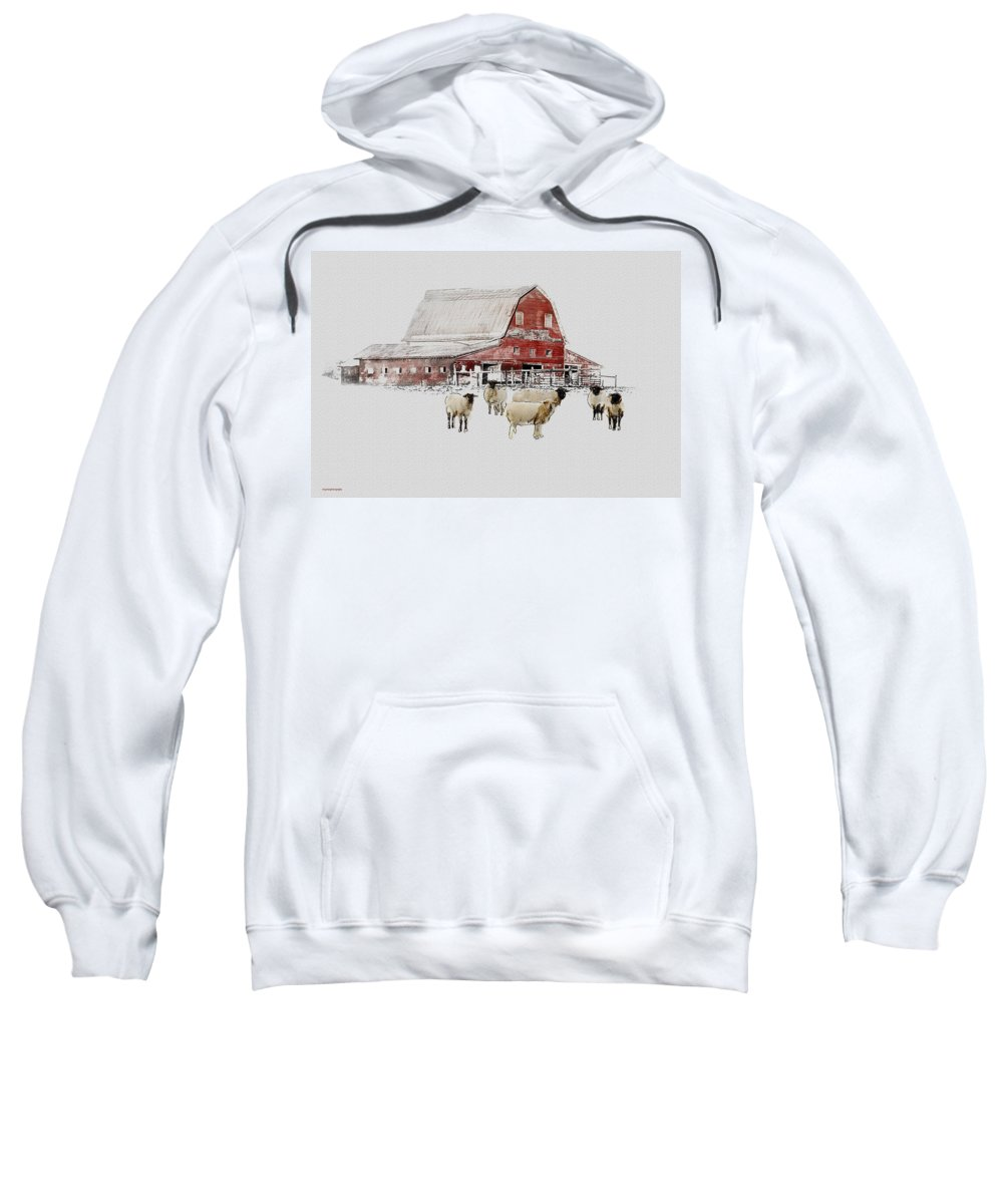 Winter Sweatshirt featuring the photograph Weatherbury Farm by Ron Jones