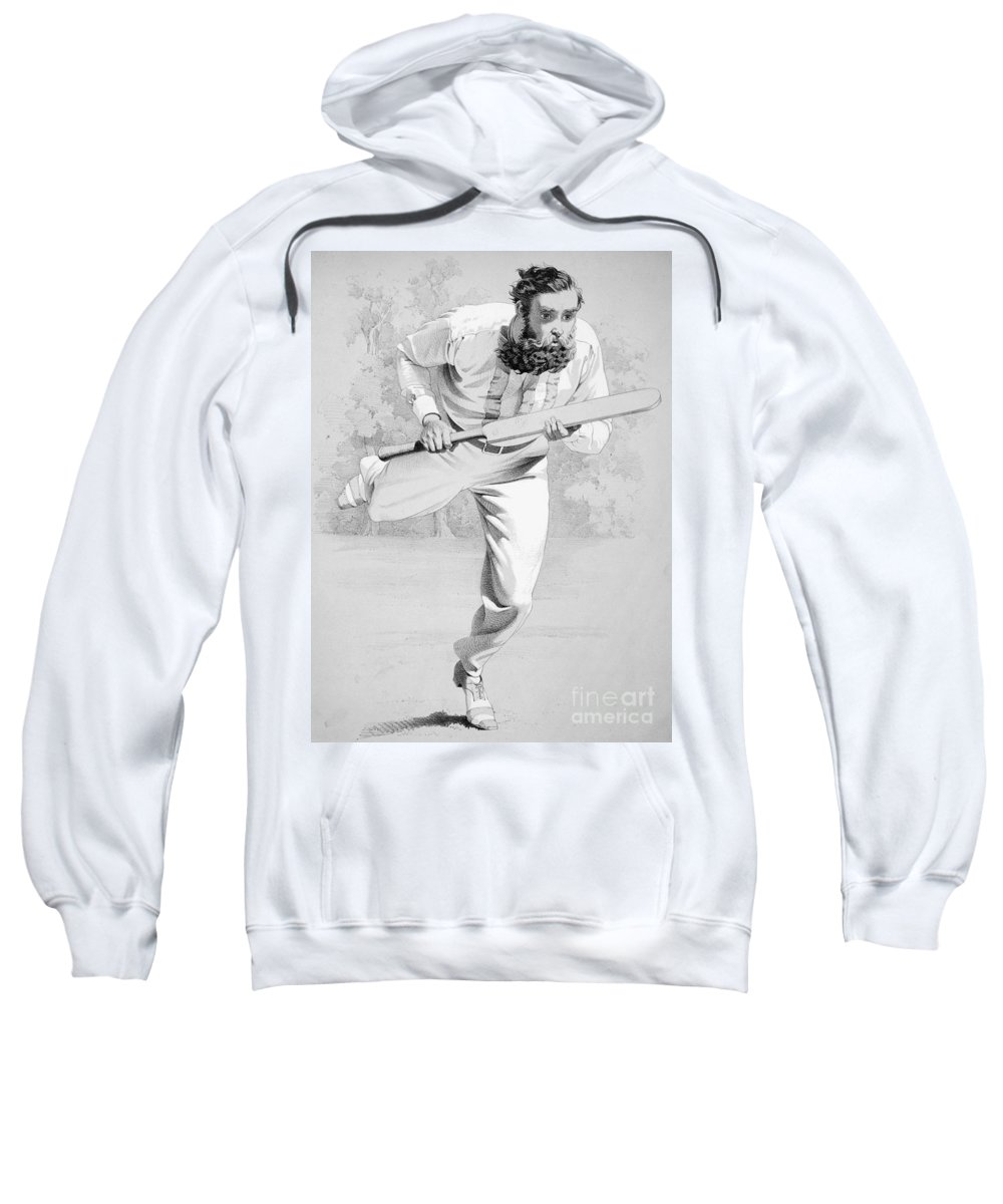 19th Century Sweatshirt featuring the photograph William Gilbert Grace by Granger
