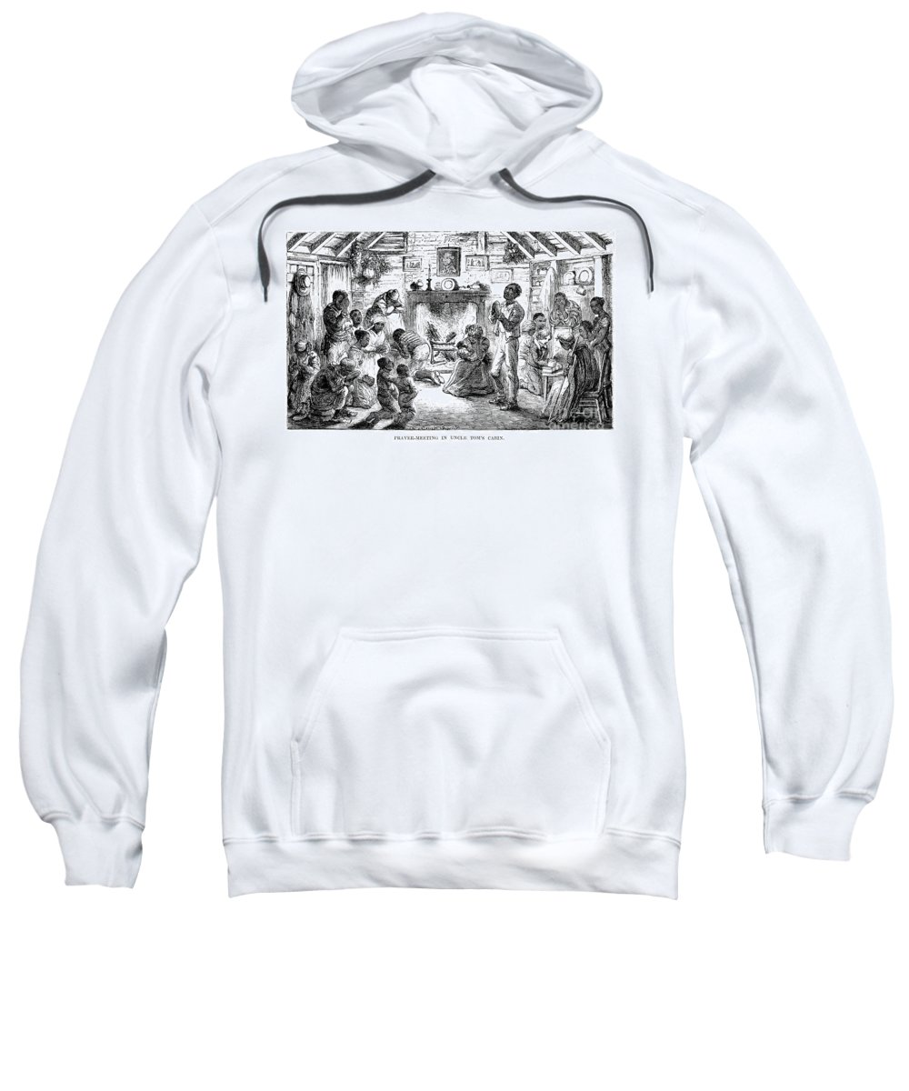 1852 Sweatshirt featuring the photograph Uncle Toms Cabin by Granger