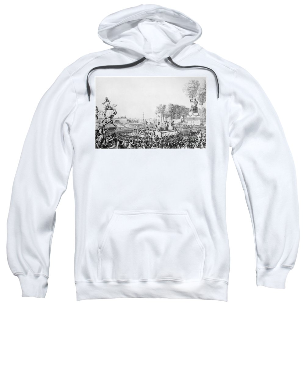1793 Sweatshirt featuring the photograph Marie Antoinette (1755-1793) by Granger