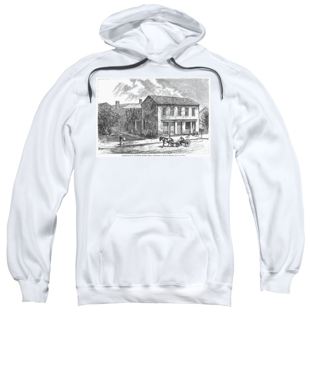1876 Sweatshirt featuring the photograph Rutherford B. Hayes by Granger