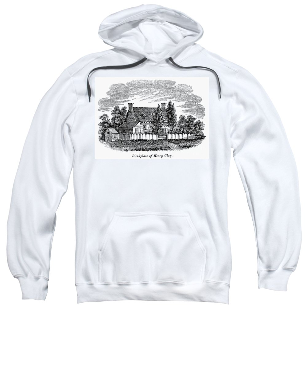 1856 Sweatshirt featuring the photograph Henry Clay (1777-1852) by Granger
