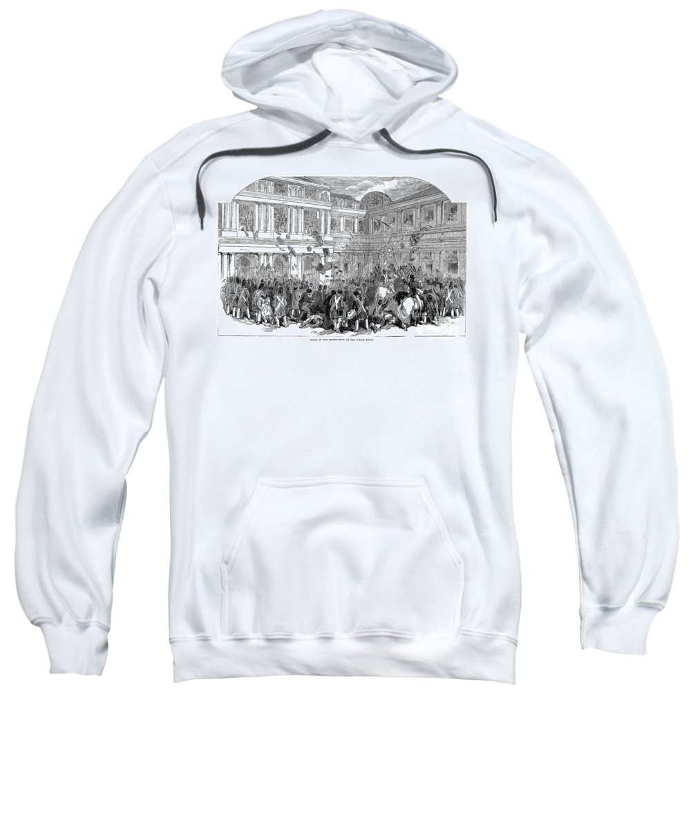 1848 Sweatshirt featuring the photograph France: Revolution Of 1848 by Granger