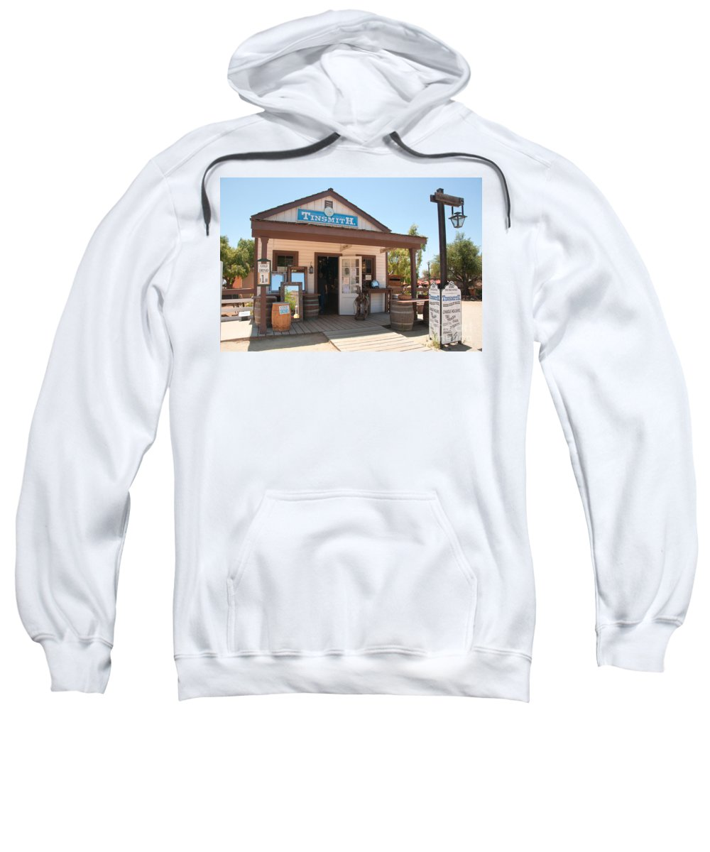 Architecture Sweatshirt featuring the digital art Old Town San Diego by Carol Ailles