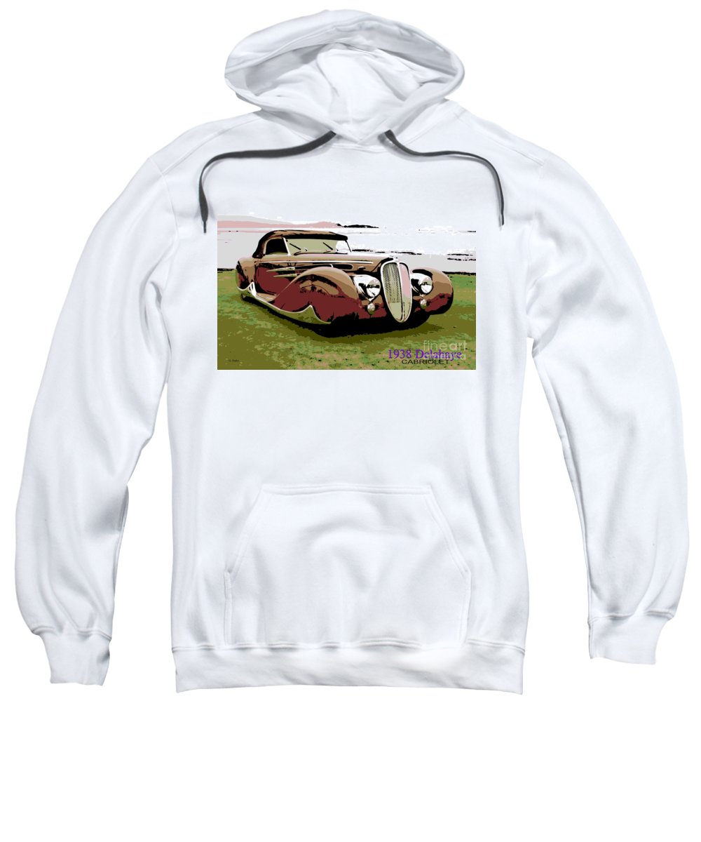1938 Sweatshirt featuring the photograph 1938 Delahaye Cabriolet by George Pedro