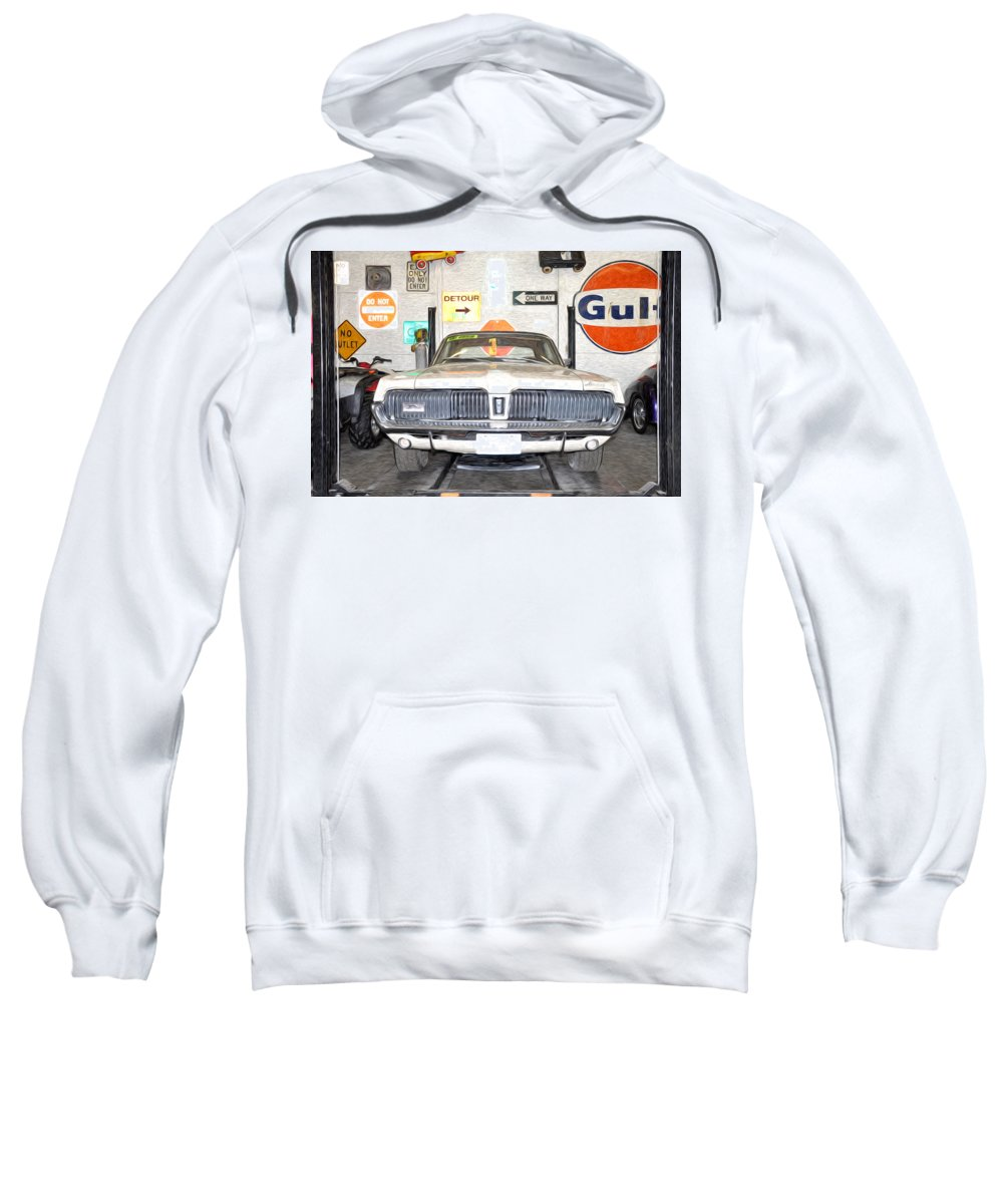 1967 Sweatshirt featuring the photograph 1967 Mercury Cougar by Bill Cannon