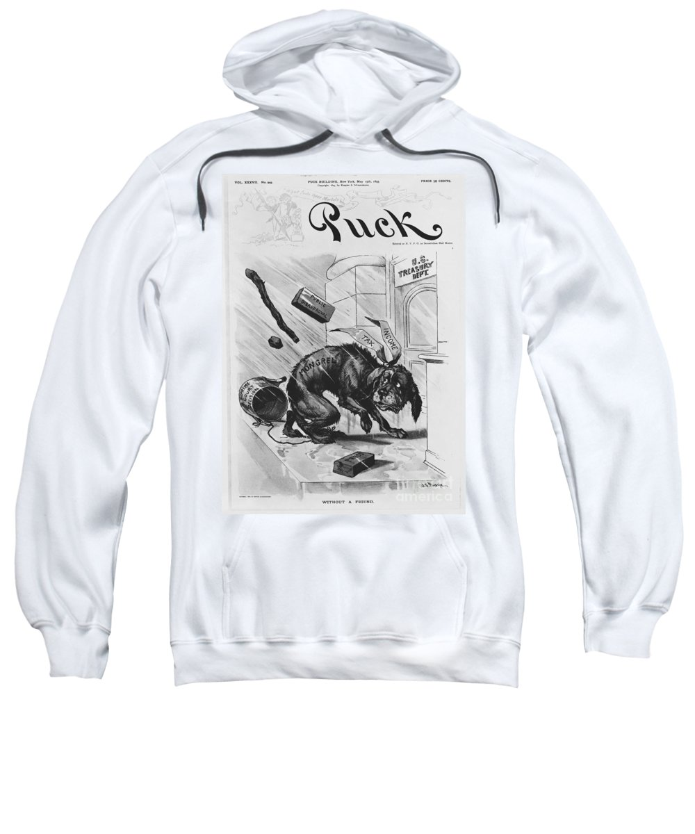 Historic Sweatshirt featuring the photograph 19th Century Political Cartoon by Photo Researchers