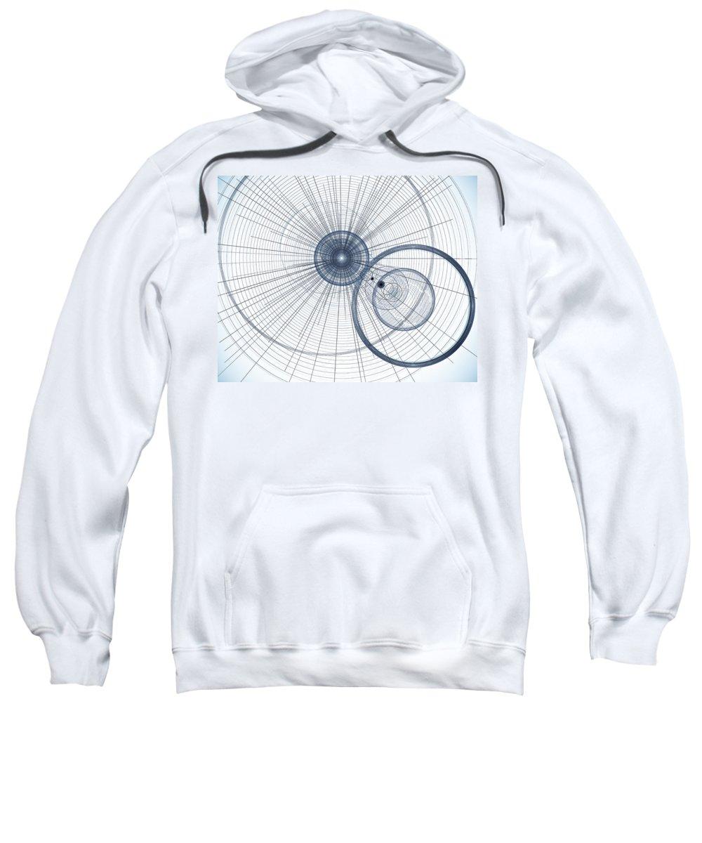 Art Sweatshirt featuring the digital art Abstract Circle Art by David Pyatt