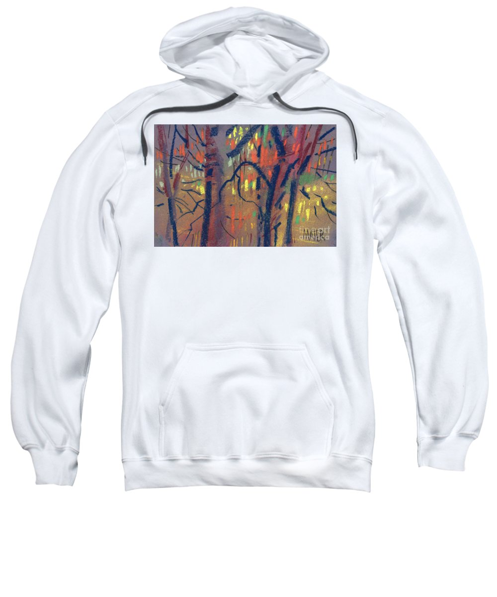 Trees Sweatshirt featuring the painting Autumn Color by Donald Maier
