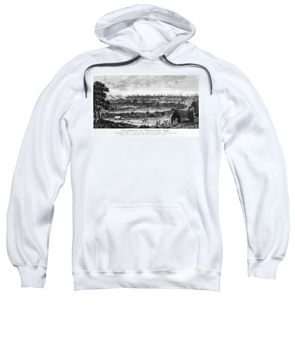 1777 Sweatshirt featuring the photograph Battle Of Saratoga, 1777 by Granger