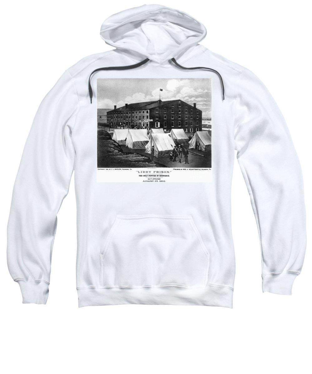 1863 Sweatshirt featuring the photograph Civil War: Libby Prison by Granger