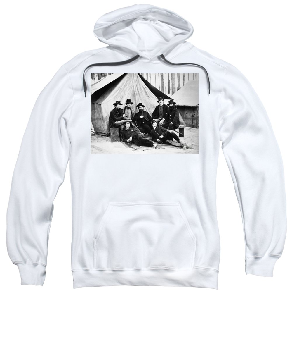 1860s Sweatshirt featuring the photograph Civil War: Soldiers by Granger